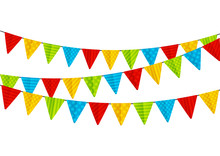 Color Party Flags Isolated On ...
