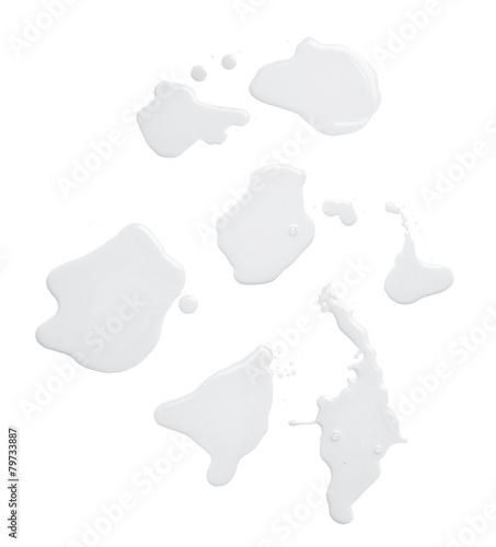 Obraz na płótnie The puddle of a paint spill