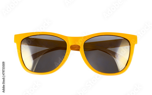 Foto Yellow sun glasses isolated
