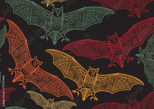 Materiał do szycia Wektor wzór halloween z bat