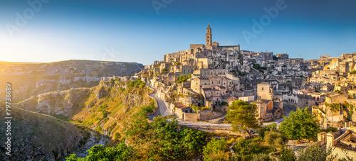 Ancient town of Matera at sunrise, Basilicata, Italy