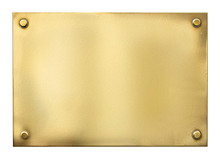 Blank Gold Or Brass Metal Sign...