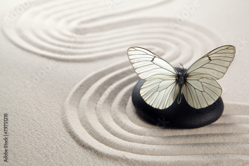 Acrylic Prints Stones in Sand Zen stone garden