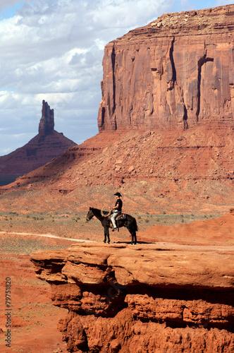 Fotografia  Monument valley, Cowboy on John ford point