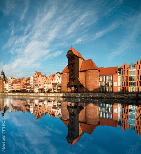 plakat Cityscape of Gdansk
