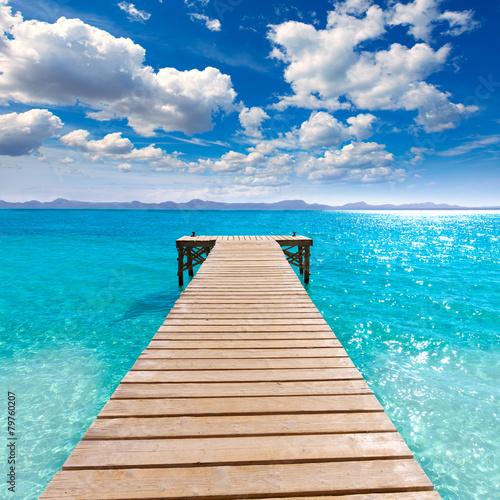 Valokuva Platja de Alcudia beach pier in Mallorca Majorca