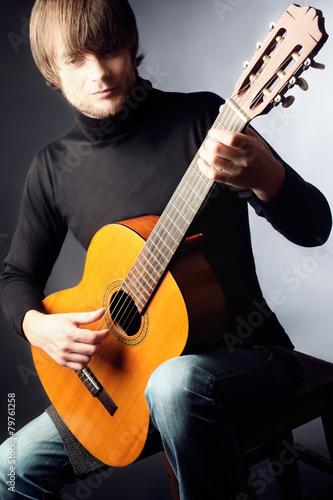 Papiers peints Musique Acoustic guitar player classical guitarist
