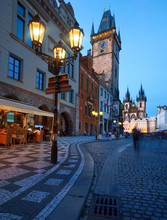 Old City Hall On The Town Square In Prague