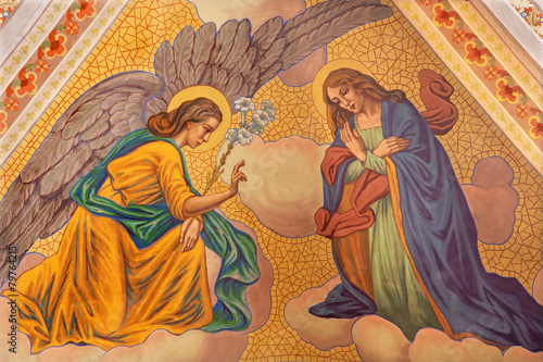 Banska Stiavnica - Annunciation fresco in parish church