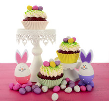 Easter Cupcakes With Bunny Easter Eggs