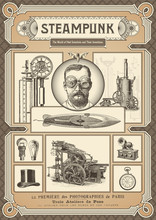 Steampunk Card Or Poster - Var...