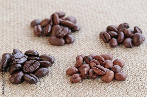 Fotografía  4種類のコーヒー豆