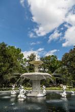 Ornate Fountain In Forsyth Park