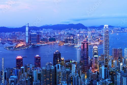 Garden Poster Beautiful morning Hong Kong at Night