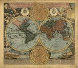 Vintage World map - 79792254