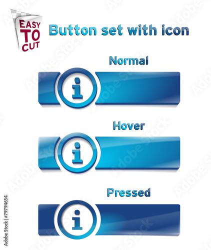 Fotografie, Obraz  Button_Set_with_icon_1_96