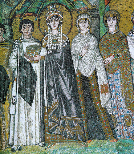 mosaic in the Basilica of San Vitale, Ravenna, Italy Canvas-taulu