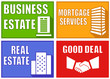set colorful real estate emblems