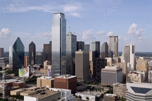 Skyline of Dallas Texas on a Sunny Day