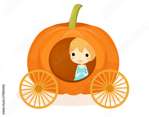 Fotografie, Obraz  Cinderella pumpkin