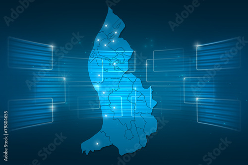 Liechtenstein Map World Map News Communication Blue Buy This Stock