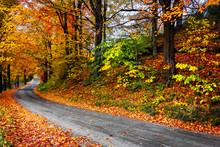 Fall In New England Winding Ro...
