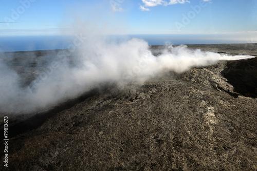 Deurstickers Vulkaan Aerial view of Kilauea volcano in Big island, Hawaii-11