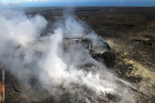 Deurstickers Vulkaan Aerial view of Kilauea volcano in Big island, Hawaii-6