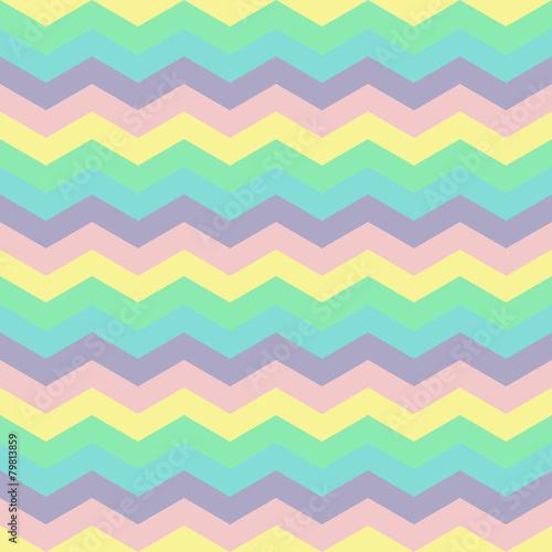Foto op Canvas ZigZag abstract retro geometric pattern