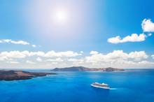 Cruise Liners Near The Greek Islands