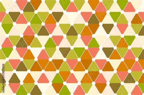 Foto op Canvas ZigZag Quincunx Retro Color Palette Seamless Triangle Pattern Vector