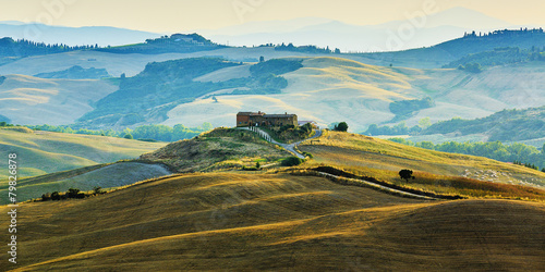 Foto op Canvas Beige Tuscany landscape, San Quirico d´Orcia, Italy