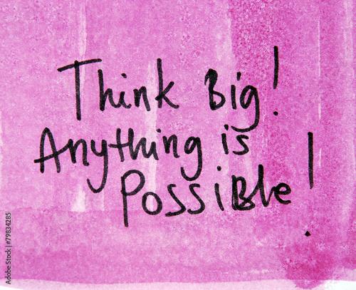 Fotografie, Obraz  think big