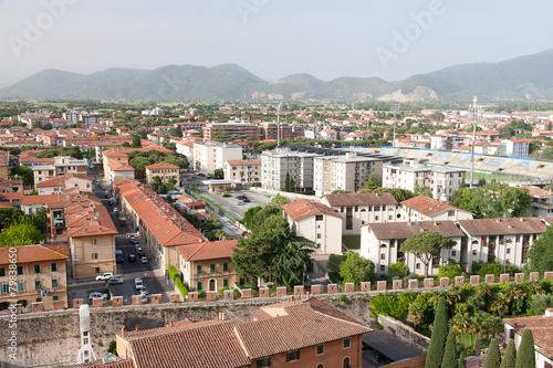 Deurstickers Toscane Pisa Old Town Center Cityscape