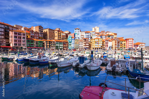 Fototapeta  Fishing port of Bermeo on a sunny day. Basque Country, Spain