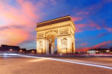 Fototapeta na wymiar Paris, Arc de Triumph, France