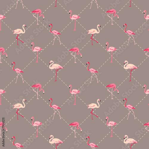 flamingo-ptaka-tlo-retro-bezszwowy-wzor-w-wektorze