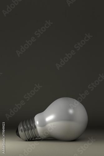 Fototapety, obrazy: Arbitrary light bulb lying