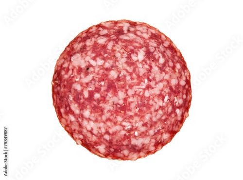 Canvas-taulu slice of salami sausage