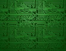 Vector Green Circuit Board Bac...