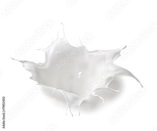 Carta da parati milk splash drop white liquid