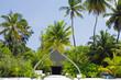 The main entrance into the Herathera island resort, Maldives