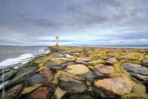 Fotobehang - Morze, latarnia morska, Swinoujscie , Polska