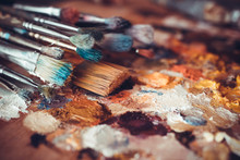 Paintbrushes Closeup, Artist P...