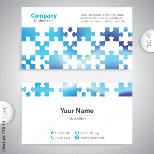 Business card abstract puzzle background company presentatio business card abstract puzzle background company presentatio colourmoves