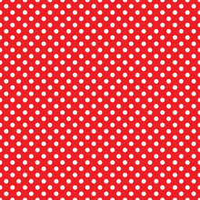 Seamless Red Polka Dot Backgro...