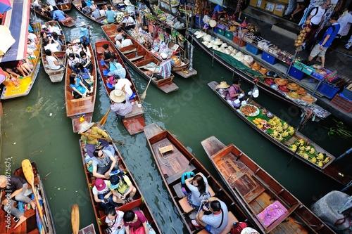 Poster Bangkok BANGKOK,THAILAND - JANUARY 30 : Damonen saduak floating market