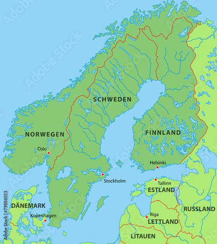 Karte Skandinavien.Skandinavien Karte In Grün Buy This Stock Vector And Explore
