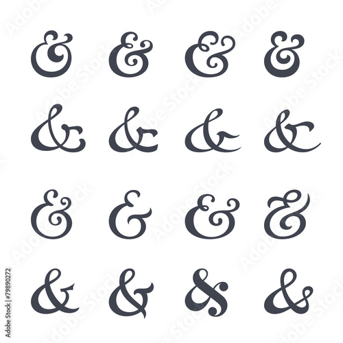 Ampersand collection Wallpaper Mural