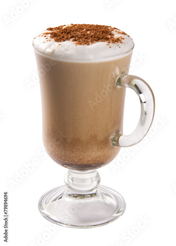 Fotografía Cappuccino isolated on white background